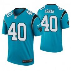 Carolina Panthers #40 Alexander Armah Blue Color Rush Legend Jersey