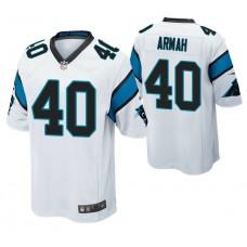 Carolina Panthers #40 Alexander Armah White Game Jersey