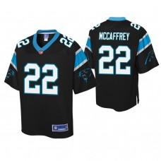 Youth Carolina Panthers #22 Christian McCaffrey Black Player Pro Line Jersey