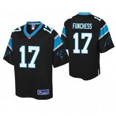 Youth Carolina Panthers #17 Devin Funchess Black Player Pro Line Jersey