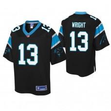 Youth Carolina Panthers #13 Jarius Wright Black Player Pro Line Jersey