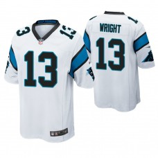 Carolina Panthers #13 Jarius Wright White Game Jersey