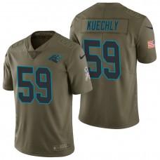 Carolina Panthers #59 Luke Kuechly Olive 2017 Salute to Service Limited Jersey