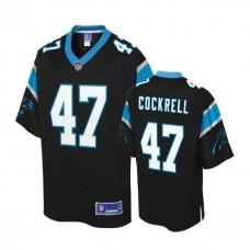 Youth Carolina Panthers #47 Ross Cockrell Black Player Jersey