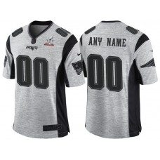 New England Patriots Super Bowl LI Champions Gridiron Gray II Limited Customized Jersey
