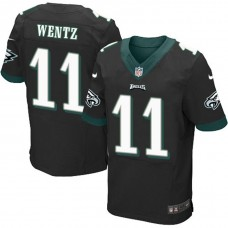 Philadelphia Eagles #11 Carson Wentz Black Elite Jersey
