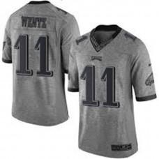 Philadelphia Eagles #11 Carson Wentz Gray Gridiron Limited Jersey