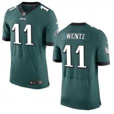 Philadelphia Eagles #11 Carson Wentz Green Elite Jersey