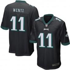 Philadelphia Eagles #11 Carson Wentz Black Game Jersey