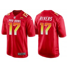 2018 Pro Bowl AFC Los Angeles Chargers #17 Philip Rivers Red Game Jersey