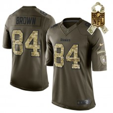 Pittsburgh Steelers #84 Antonio Brown Green Salute To Service Limited Jersey