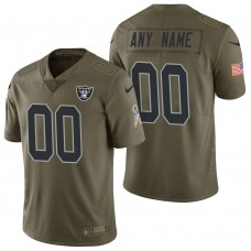 Oakland Raiders Olive 2017 Salute to Service Limited Customized Jersey