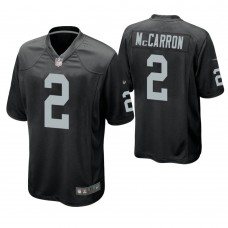 Oakland Raiders #2 AJ McCarron Black Game Jersey