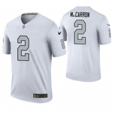 Oakland Raiders #2 AJ McCarron White Color Rush Legend Jersey