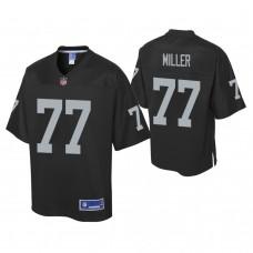 Youth Oakland Raiders #77 Kolton Miller Pro Line Black Jersey