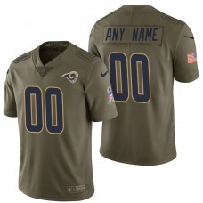 Los Angeles Rams Olive 2017 Salute to Service Limited Customized Jersey