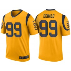 Los Angeles Rams #99 Aaron Donald Gold Color Rush Legend Jersey