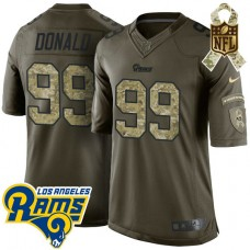 Los Angeles Rams #99 Aaron Donald Green Salute To Service Limited Jersey