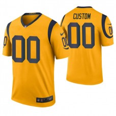 Los Angeles Rams Gold Color Rush Legend Customized Jersey
