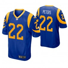 Youth Los Angeles Rams #22 Marcus Peters Royal Game Jersey