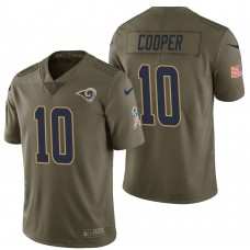 Los Angeles Rams #10 Pharoh Cooper Olive 2017 Salute to Service Limited Jersey
