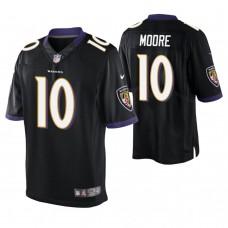 Baltimore Ravens #10 Chris Moore Black Elite Jersey