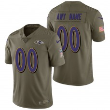 Baltimore Ravens Olive 2017 Salute to Service Limited Customized Jersey
