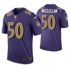 Baltimore Ravens #50 Albert McClellan Purple Color Rush Legend Jersey