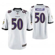 Baltimore Ravens #50 Albert McClellan White Game Jersey