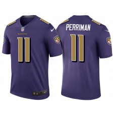 Baltimore Ravens #11 Breshad Perriman Purple Color Rush Legend Jersey