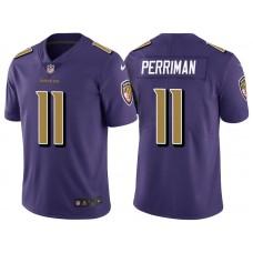 Baltimore Ravens #11 Breshad Perriman Purple Vapor Untouchable Color Rush Limited Jersey