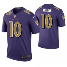 Baltimore Ravens #10 Chris Moore Purple Color Rush Legend Jersey