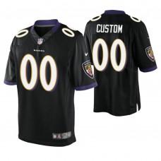 Baltimore Ravens Black Elite Customized Jersey
