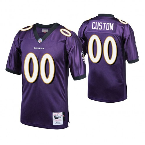 Custom Baltimore Ravens Purple Vintage Replica Jersey