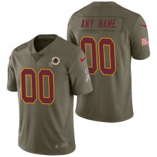 Washington Redskins Olive 2017 Salute to Service Limited Customized Jersey