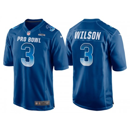 2018 Pro Bowl NFC Seattle Seahawks #3 Russell Wilson Royal Game Jersey