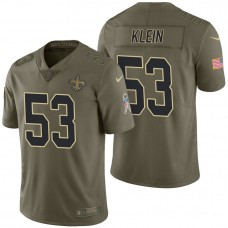 New Orleans Saints #53 A.J. Klein Olive 2017 Salute to Service Limited Jersey