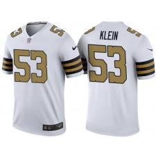New Orleans Saints #53 A.J. Klein White Color Rush Legend Jersey
