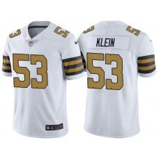 New Orleans Saints #53 A.J. Klein White Vapor Untouchable Color Rush Limited Jersey