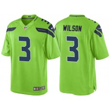 Seattle Seahawks #3 Russell Wilson Green Color Rush Limited Jersey