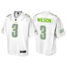 Seattle Seahawks #3 Russell Wilson Pro Line White Out Fashion Jersey