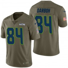 Seattle Seahawks #84 Amara Darboh Olive 2017 Salute to Service Limited Jersey