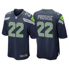 Youth Seattle Seahawks #22 C.J. Prosise Navy Game Jersey