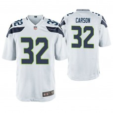 Seattle Seahawks #32 Chris Carson White Game Jersey