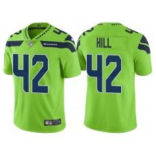 Seattle Seahawks #42 Delano Hill Neon Green Vapor Untouchable Color Rush Limited Jersey