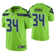 Seattle Seahawks #34 Franco Harris Neon Green Vapor Untouchable Color Rush Limited Retired Player Jersey