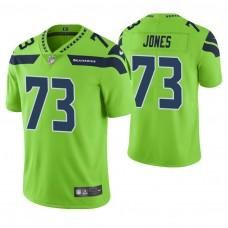 Seattle Seahawks #73 Jamarco Jones Neon Green Vapor Untouchable Color Rush Limited Jersey