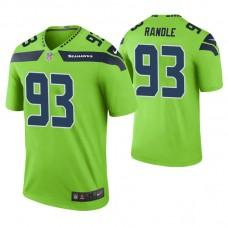 Seattle Seahawks #93 John Randle Green Color Rush Legend Retired Player Jersey