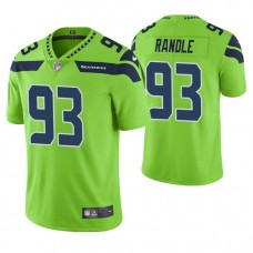 Seattle Seahawks #93 John Randle Neon Green Vapor Untouchable Color Rush Limited Retired Player Jersey