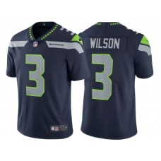 Seattle Seahawks #3 Russell Wilson College Navy Vapor Untouchable Limited Jersey